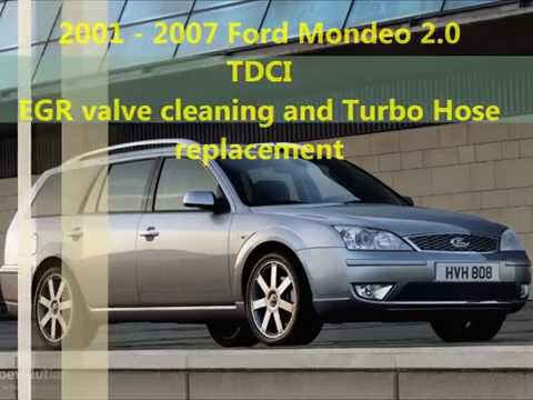 Ford Mondeo mk3 EGR valve and Turbo Hose  Replacement and Cleaning. Turbo schlauch