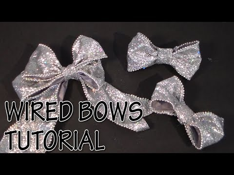 HOW TO MAKE WIRED BOWS TUTORIAL by Cup n Cakes Gourmet