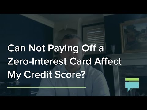Can not paying off a zero-interest card affect my credit score? - Credit Card Insider