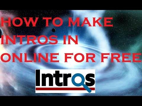 How to Make an Intro for YouTube Videos FOR FREE!
