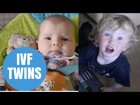 Couple celebrate having IVF twins 2 YEARS apart