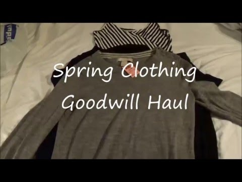 Goodwill Clothing Haul | Spring 2016