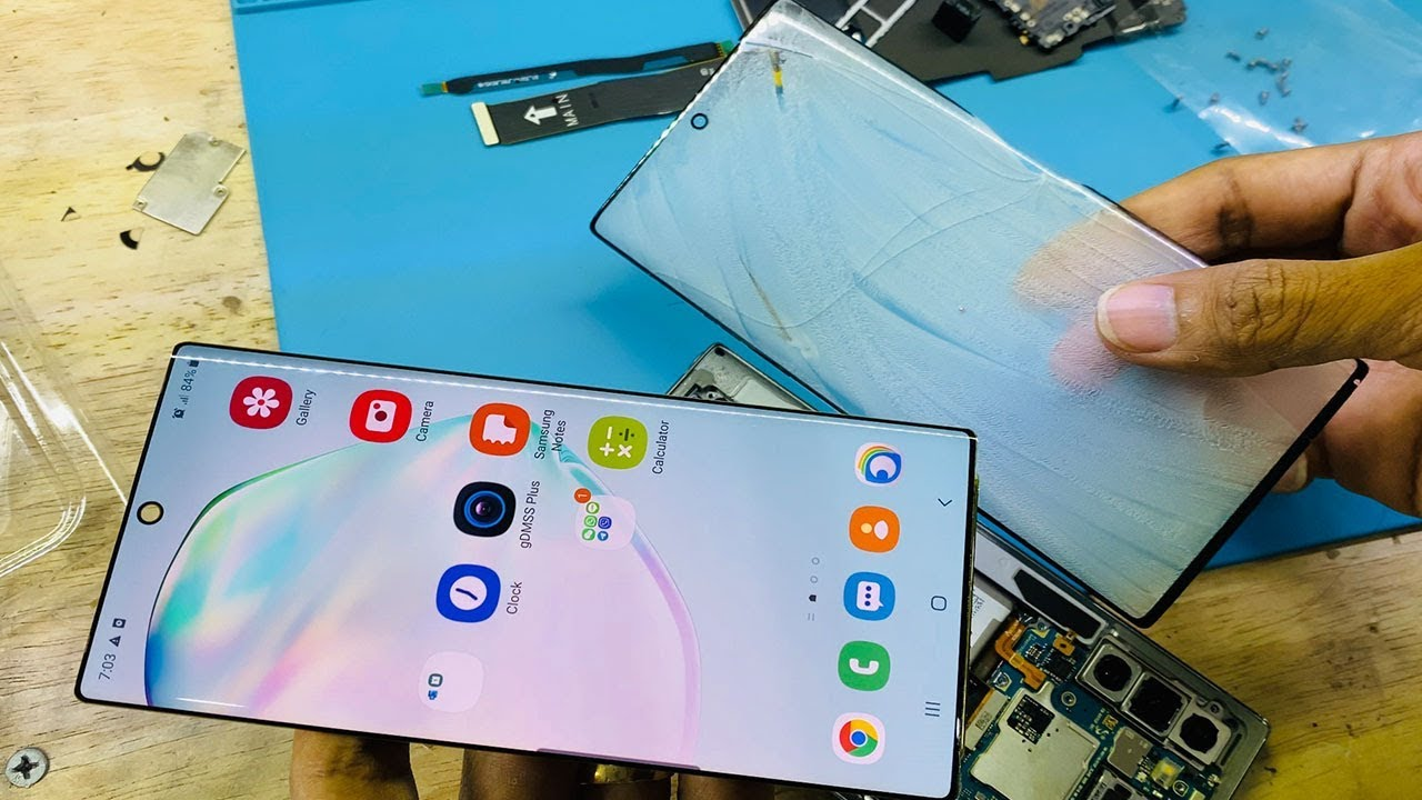 How to replacement touch glass Samsung Note 10