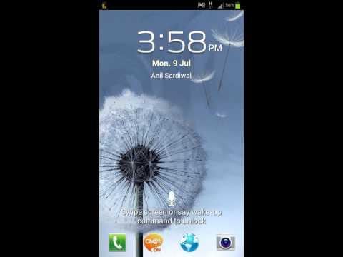 Samsung Galaxy S3 Lock Screen Screencast