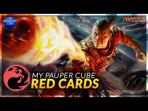 Red Cards In My Pauper MTG Cube