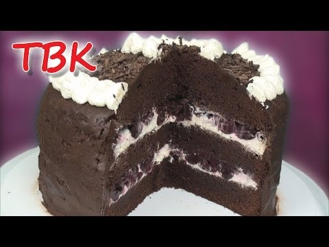 Monster Black Forest Gateau Recipe (Chocolate Cake with Cherries and Cream)