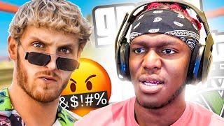 LOGAN PAUL THREATENS KSI ON GTA V (Sidemen Gaming)
