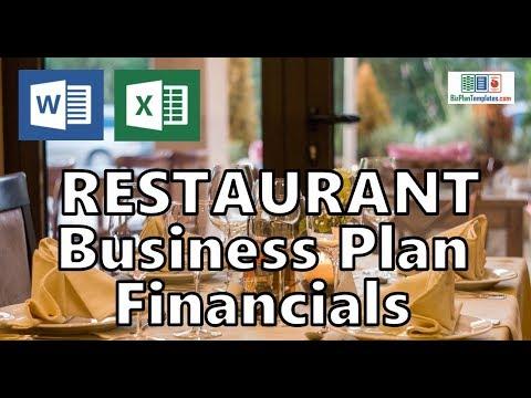 RESTAURANT BUSINESS PLAN FINANCIALS