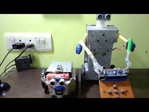 How to make simple artificial intelligence bot | obstacle avoiding autonomous bot