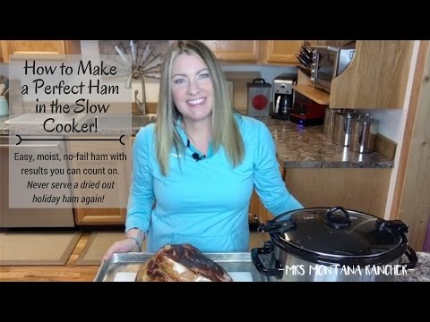 How to Make A Perfect Ham in the Slow Cooker!