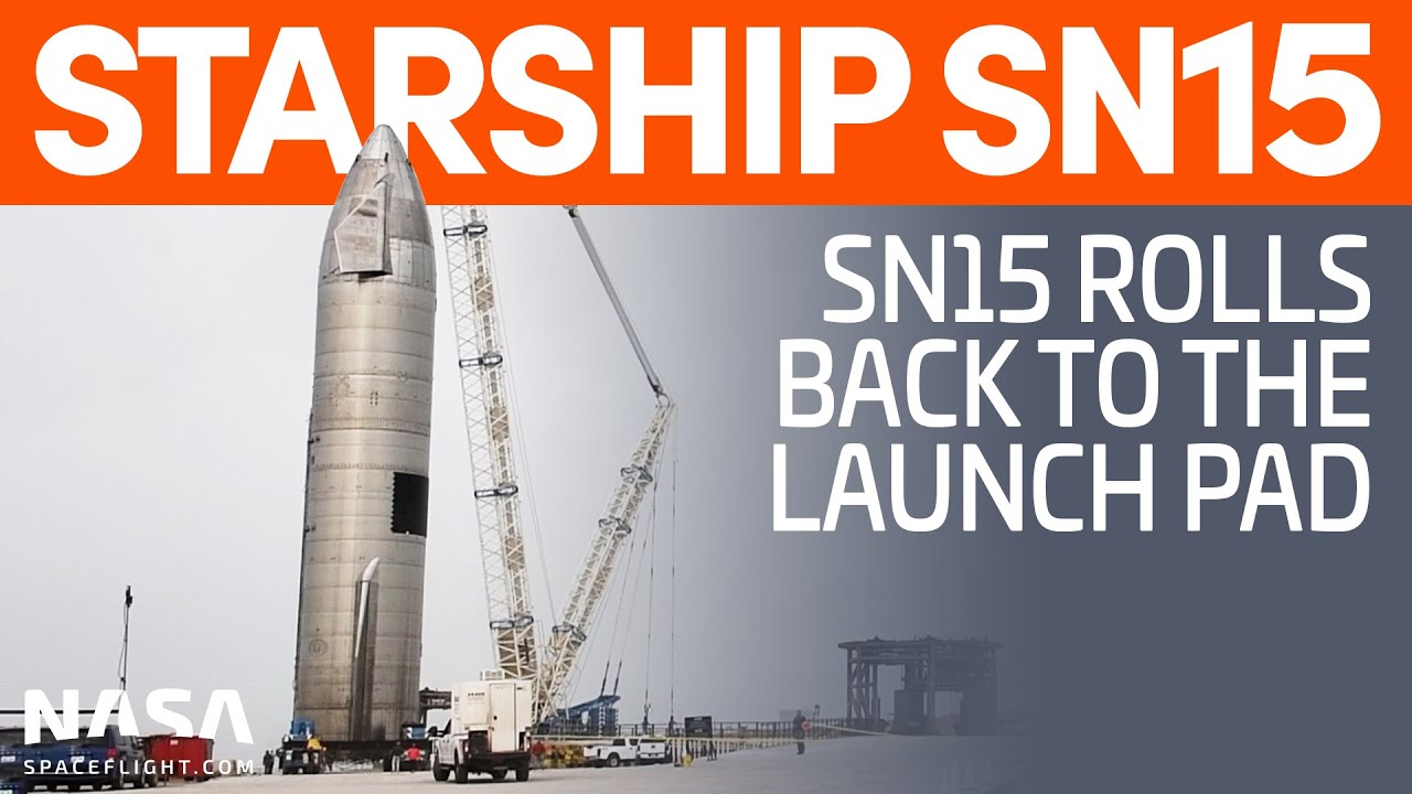 Starship SN15 Rolls to the Launch Pad | SpaceX Boca Chica