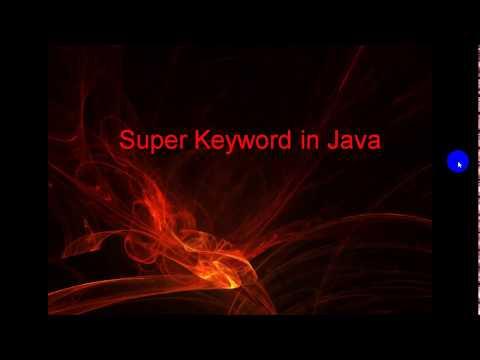 super keyword use in java