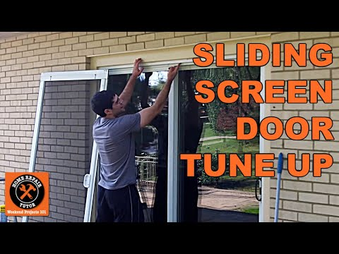 Sliding Screen Door Tune Up -- by Home Repair Tutor