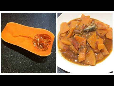 How to make easy  Ginisang Kalabasa at sardinas || Sautéed Butternut Squash with Sardines