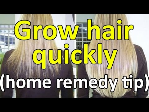 how to grow hair quickly (home remedy tip)