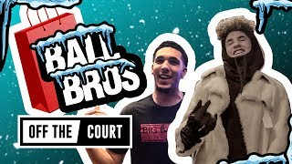 LaMelo & LiAngelo Ball Go Christmas Shopping In NYC! Trash CHINO HILLS & Have Snowball Fight!!