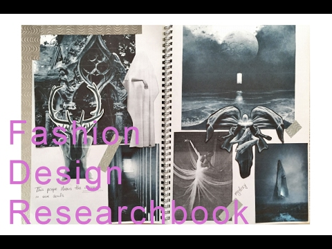 Fashion Design Research book/Sketchbook (no comment)