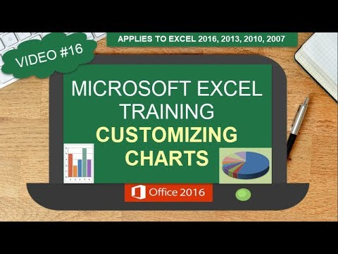 MICROSOFT EXCEL CUSTOMIZING CHARTS |ADD A LEGEND | CHANGE CHART COLORS | CHANGE CHART STYLE | #16