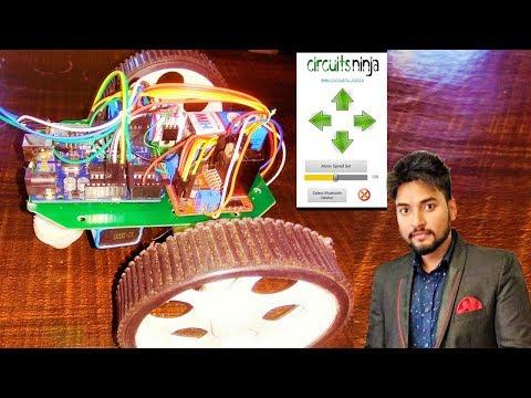 CONTROL CAR USING CELLPHONE | ARDUINO UNO | BLUETOOTH MODULE HC05 | L298N MOTOR DRIVER  ( MakeloGy )