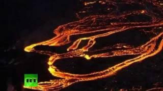 Hawaii volcano eruption: Stunning aerial video of Kilauea lava rivers