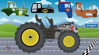 Tractor Racing For Kids | Tractor VS Truck | Racing Street Vehicles for Children | Video For Kids