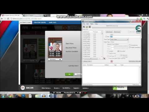 How to make coins in fifa 12 ultimate team #2 (cheat engine)