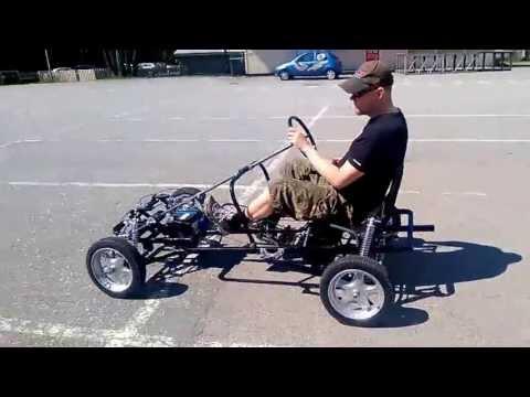 Scratch-built Quadracycle - Pedal Car - Velomobile - Sähköpyörä - Elcykel - Cuadriciclo a pedal