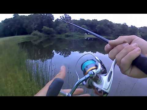 Bass Fishing just before Sunset - Summer Bassin - Long Island, NY