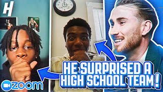 Gordon Hayward CRASHES a HS Basketball Team ZOOM MEETING!! | The Drop In