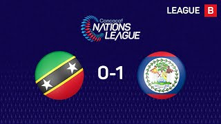 #CNL Highlights - St. Kitts and Nevis 0-1 Belize