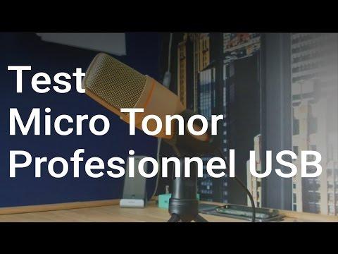 Test Micro Tonor Professionnel USB - 18€ seulement - Français