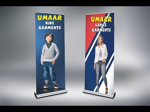 How To Design A Roll Up Banner In Corel Draw
