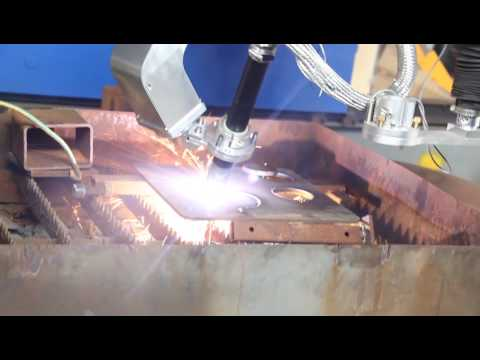 how to cut thick plate and bevel the steel plate ?