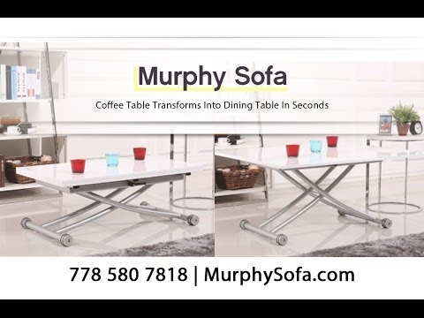 Space Saving Coffee Table Transforms Into Dining Table In Seconds!