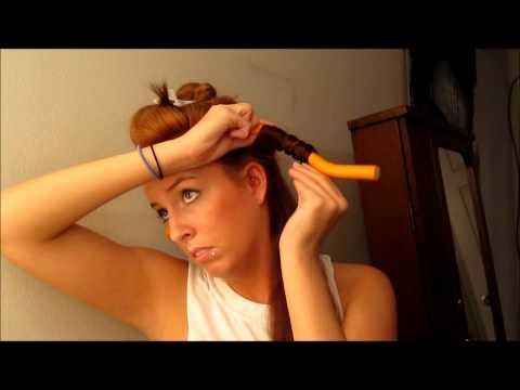 Heatless Curls Using Bendy Rollers