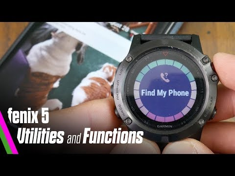 fenix 5 Utilities & Functions // Find my phone/Device, Alerts, Flashlight, Change Sport and more!
