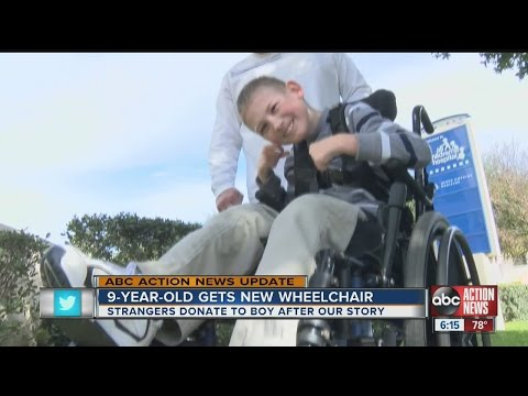 Viewer donations help Pasco County boy with Cerebral Palsy get electric wheelchair