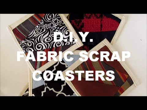 DIY Fabric Scrap Coasters | NANCY MAC