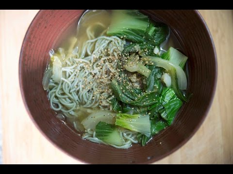 Ginger Bok Choy Ramen Noodle Soup Recipe - Quick and Easy