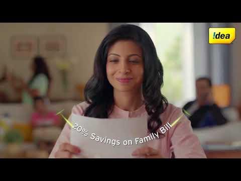 Idea Postpaid Nirvana Plans - 20% Savings on Family Bills