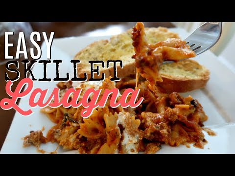 SKILLET LASAGNA | QUICK ONE PAN DINNER | Cook Clean And Repeat