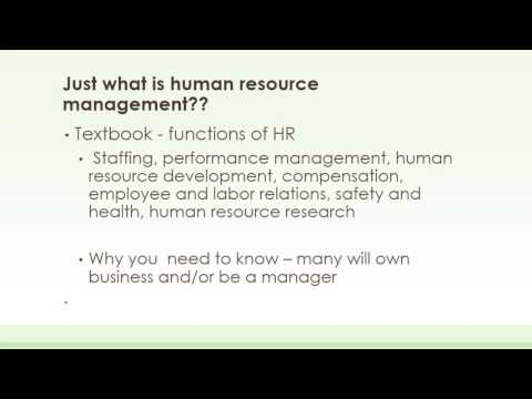 Introduction to HR – Week 1 SummaryWk2 Intro 1