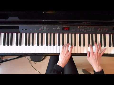 ABRSM grade 4 piano exam scales Piano tutorial ( slow demo)
