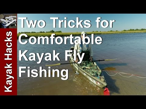Fly Fishing from a Kayak - Easier Casting and Comfort using this Fly Fishing Tip!