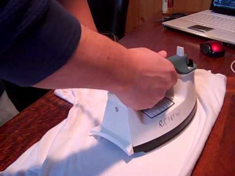 How to repair a white heat stain on wood furniture.wmv