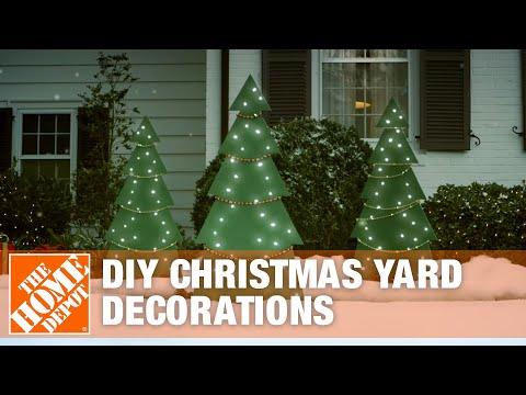DIY Christmas Yard Decorations: Wooden Christmas Tree