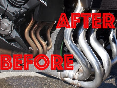 How to clean motorcycle exhaust pipes │SWISSBIKER