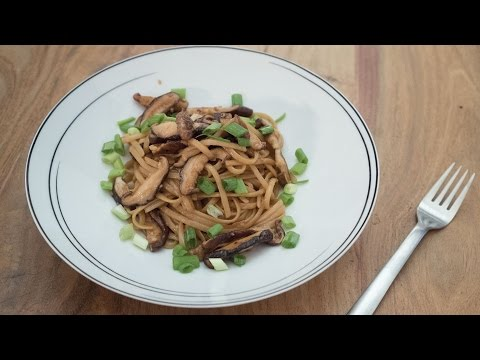 Soy Sauce Butter Pasta with Shiitake Mushrooms