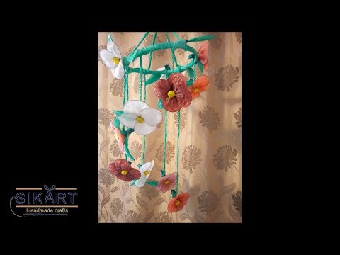DIY How To Make Wind Chimes from Plastic Bags and Newspaper I Wall Decor |Best out of waste |