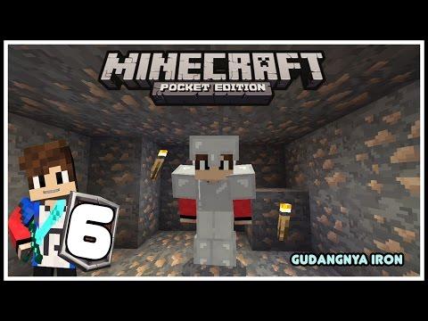 Minecraft Pocket Edition Indonesia - Cara Cepat Mendapatkan Iron #Survival6